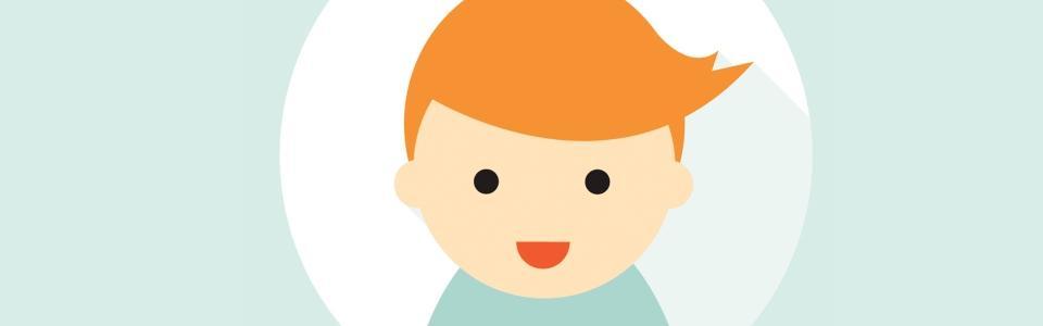 Rysunek uśmiechniętego dziecka